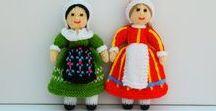 France & Denmark Folk Doll Pattern / Original knitting patterns from -  http://edithgrace.blogspot.co.uk/