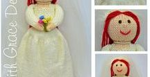Bride Doll Knitting Pattern / http://www.edithgracedesigns.com