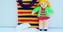 Bella in a Bag Doll Knitting Pattern / Original knitting patterns from - http://edithgrace.blogspot.co.uk/