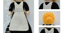1920s Lady's Maid Doll Knitting Pattern / http://www.edithgracedesigns.com