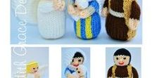 Angel, Mary, Joseph, Baby Jesus Doll, Wise Men - Knitted Nativity / http://www.edithgracedesigns.com