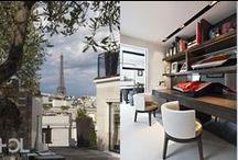 Appartement Ranelagh / Réunir ces deux appartements situés au dernier étage d'un immeuble moderne du très chic 16ème arrondissement de Paris fit l'objet d'un important travail structurel. Inspirés par la vue et la configuration des plans, les Lempereur ont choisi de traiter l'appartement comme la suite de l'armateur d'un navire de luxe, à la fois lieu d'exception et lieu de vie, minimaliste et convivial.