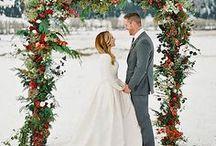 Winter Weddings / Everything on Winter Wedding Ideas to inspire you! #wedding #winterweddings #winter