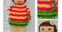 Doll Knitting Patterns - Love Knitting / http://www.edithgracedesigns.com