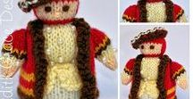 King Henry VIII Doll Knitting Pattern / http://www.edithgracedesigns.com