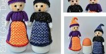 Halloween Witches Egg Cosy Doll / http://www.edithgracedesigns.com