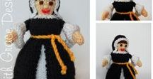 Catherine of Aragon Doll - Knitting Pattern / http://www.edithgracedesigns.com