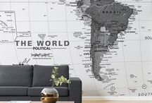 World Map Wallpaper / Plan your next adventure with one of our detailed maps that look great on any wall. From textbook style maps to vintage maps, there's a wallpaper to suit your interiors.