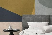 Geometric Wallpaper Murals / Combining sleek lines with carefully selected colour palettes, our geometric wallpaper collection is truly unique. Choose from large scale geometric designs that are sophisticated yet minimal, or repeated patterns that add an exuberant style to your interiors.