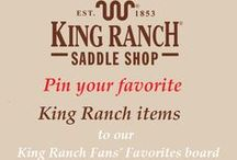 King Ranch Fan Favorites / Pins of items King Ranch fans and customers love!  Please only pin items from King Ranch Saddle Shop.  To join this group, comment on a pin posted by KRSaddleShop! / by King Ranch Saddle Shop