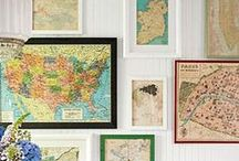 Love MAPS AND PLACES / Can't get enough of beautiful maps! / by Pink Flamingo