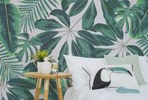 Tropical Fever / Dreaming of summer sunshine? Bring some tropical decor into your home, and create your own little piece of paradise.