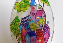 Bottiglie  DI FLAVIA MERZEK / Bottiglie decorate con tecnica decoupage ,pittura acrilica,pittura su vetro,pasta modellabile