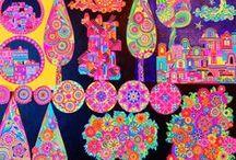 ART MANDALA PAINTING&SASSI&ALPHABET / Mandala dipinti CON COLORI ACRILICI E PENNARELLI GEL