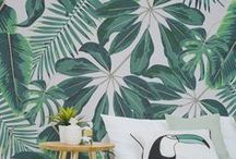 Jungle Wallpaper / Venture into the jungle with these marvellous wallpaper murals. From illustrative leafy prints to picture-perfect jungle scenes, there's a mural for you and your home.