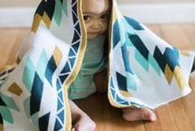 Baby Sedona / The Baby Sedona Throw by Seek & Swoon is made in the USA from recycled cotton and inspired by the great and beautiful southwest. It makes the perfect new baby or shower gift. Available in pink and blue palettes.