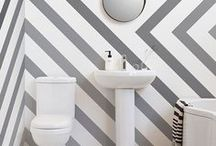 Bathroom Ideas / On the lookout for new bathroom decoration ideas? Whether you're on a budget, or simply looking for nifty ways to style, a great place to start is creating an accent wall and styling around this wonderful feature.