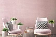 "Millennial Pink / Whether or not you've heard the term ""millennial pink,"" you certainly know it when you see it... If your taste for the hue rests in home decor and accessories — you should definitely be looking to shop for the perfect wallpaper and plaster your walls with the beauty of millennial pink."