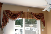 Fabric on Windows / Drapery, Valances, Cornice Boards, and More / by Laurie Boyer LanB Designs and Draperies