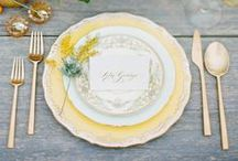 Yellow Wedding / yellow wedding inspiration and ideas