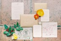 Citrus Wedding / Citrus colored wedding inspiration and ideas