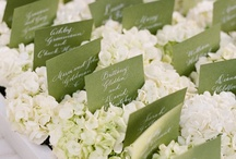 Wedding Color Palette: Green & Pink / Ideas for a green wedding, with touches of cream and pink.