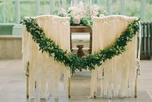 Chairs  / Wedding chair decorations and ideas