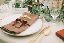 Place Settings / Beautiful place settings for your wedding  / by Sara | Burnett's Boards