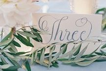 Table Names & Numbers / Wedding table names and numbers
