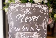 Wedding Signage  / Wedding signs, menus, and more.
