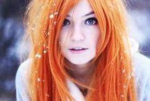 Orange - ish Hair / Orange Peach Coral Gold Hair