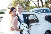 Angela And Piers Fabulous Wedding / Angela wore a stunning Italian corded lace gown created to compliment her beautiful figure, the ivory lace was appliqued  over layers of silk Duchesse satin, silk organza and tulle. She radiated happiness on her big day!
