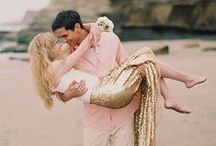 Blink beach wedding / Gold and silver wedding
