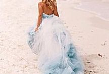 Dip Dyed Wedding Dress , Beach wedding