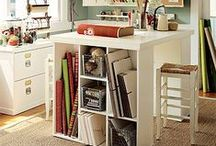Organisation - Bureau/atelier / De belles photos et des idées en pagaille pour organiser la mienne :-) Y a plus qu'à !
