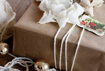 Pretty wrapping ideas. / It is all about gifts.