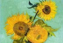 Tournesols - Sunflowers / Fleur emblématique et solaire qui a inspiré bien des tableuax !
