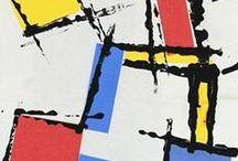 Art - P. Mondrian / Tableaux et idées inspirées par ce maître de l'art abstrait