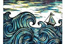 Coquillages et la mer - the sea and shells / Les eaux dissimulent un univers immense, coloré et peuplé de créatures fabuleuses ... jetez-vous à l'eau ! / by Mitsouko