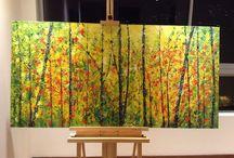 Pinturas / acrílico y acuarela