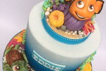 Nat's ideas board / Eddie's Nemo cake