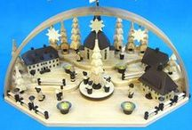 German Pyraminds / Beautiful German Pyramids with spinning blades on top run by candles!