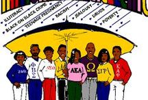 "A.A.Sororities & Fraternities / The Divine Nine and the National Pan-Hellenic Council.  There are nine historically Black Greek letter organizations (BGLOs) that make up the National Pan-Hellenic Council. Collectively, these organizations are referred to as ""The Divine Nine."" Each of these fraternities and sororities is rich in history - ties to one or more of these organizations may be found in many college-educated Black families in the United States."