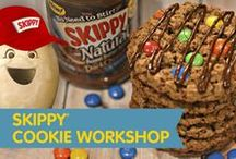 SKIPPY® Cookie Workshop / Have you been to the SKIPPY Cookie Workshop? Check out stellar peanut butter baking tips, delicious cookie recipes from our blogger friends and our latest dark chocolate recipes.   And, join our virtual peanut butter cookie exchange! Decorate cookies with colorful icing, festive sprinkles or add a silly face. Then share your creation with the people who bring you as much joy as our peanut butter does. http://on.fb.me/1bWEHr7