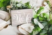 Table Numbers / Numbers for your wedding tables