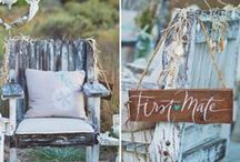 Nautical Theme / Weddings with anchors and waves