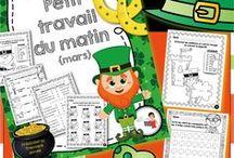 Saint-Patrick / Activités Saint-Patrick au primaire.