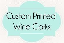 Custom Wine Cork Place Card Holders / Find these unique cork place card/escort card holders at corkeycreations.com.