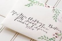 Calligraphy and Hand Lettering / Gorgeous Hand Lettered wedding details