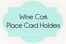 Cork Place Card Holders / Find these unique cork place card/escort card holders at corkeycreations.com.